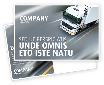 Cars/Transportation: Freight Service Postcard Template #03527