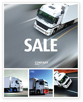 Cars/Transportation: Freight Service Sale Poster Template #03527