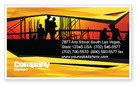 Construction: Builders Business Card Template #03530