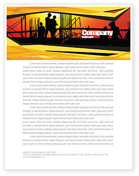 Builders Letterhead Template, 03530, Construction — PoweredTemplate.com