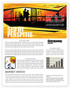 Builders Newsletter Template, 03530, Construction — PoweredTemplate.com