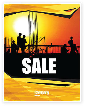 Builders Sale Poster Template