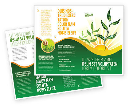 environment brochure template - growing brochure template design and layout download now