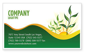 Nature & Environment: Growing Business Card Template #03531