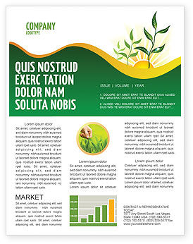 Growing Newsletter Template, 03531, Nature & Environment — PoweredTemplate.com