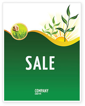 Growing Sale Poster Template, 03531, Nature & Environment — PoweredTemplate.com