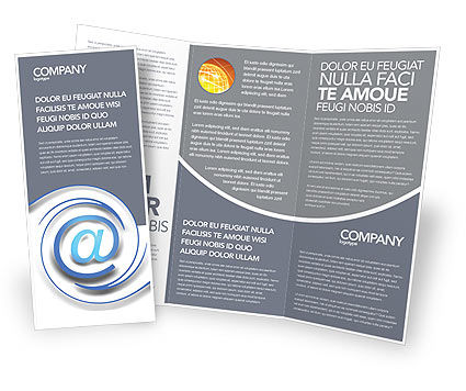 Modern Communication Via Email Brochure Template Design