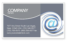 Technology, Science & Computers: Modern Communication Via Email Business Card Template #03532
