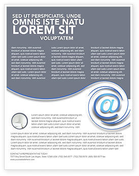Technology, Science & Computers: Modern Communication Via Email Flyer Template #03532