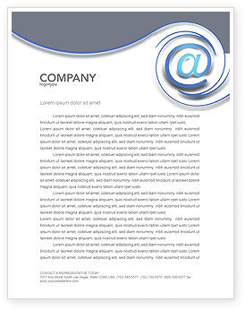 modern communication via email letterhead template layout for