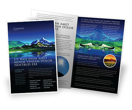 Nature & Environment: Mountain Lake Brochure Template #03534