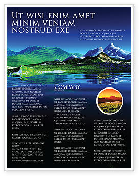 Mountain Lake Flyer Template