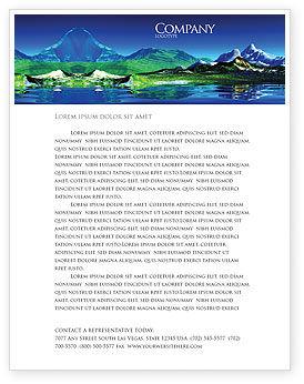 Mountain Lake Letterhead Template
