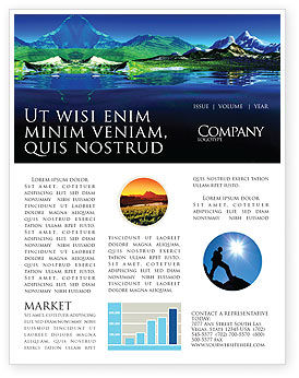Nature & Environment: Mountain Lake Newsletter Template #03534