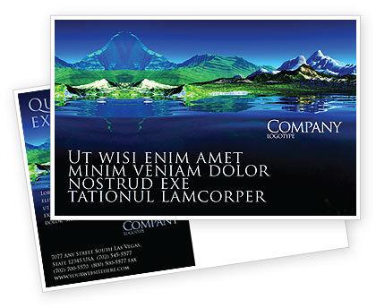 Nature & Environment: Mountain Lake Postcard Template #03534