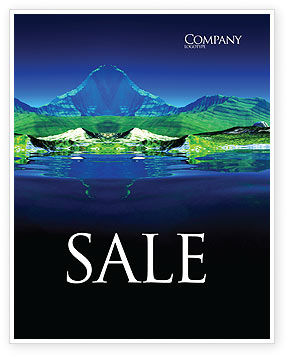 Mountain Lake Sale Poster Template, 03534, Nature & Environment — PoweredTemplate.com