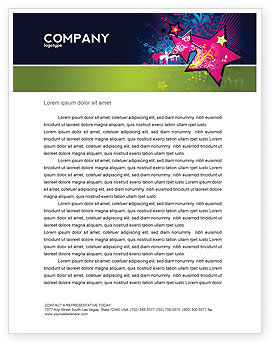 Graphic Design Letterhead Template, 03537, Holiday/Special Occasion — PoweredTemplate.com