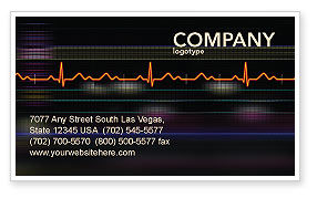 Electrocardiography Business Card Template