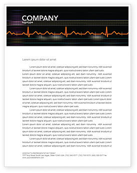 Medical: Electrocardiography Letterhead Template #03538