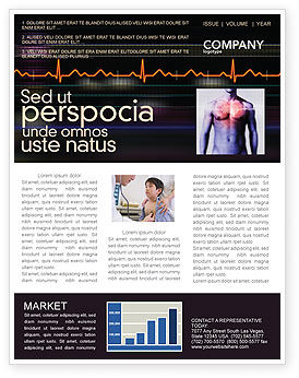 Medical: Electrocardiography Newsletter Template #03538