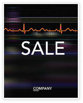 Electrocardiography Sale Poster Template, 03538, Medical — PoweredTemplate.com