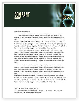 Perarticulation Letterhead Template, 03539, Medical — PoweredTemplate.com