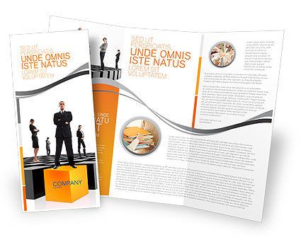 Business Concepts: Leadership Training Progress Brochure Template #03542