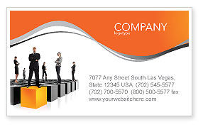 Leadership Training Progress Business Card Template, 03542, Business Concepts — PoweredTemplate.com