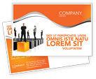 Business Concepts: Leadership Training Progress Postcard Template #03542