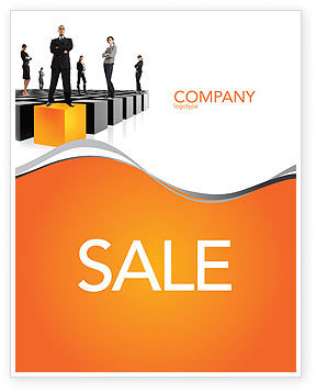 Business Concepts: Leadership Training Progress Sale Poster Template #03542
