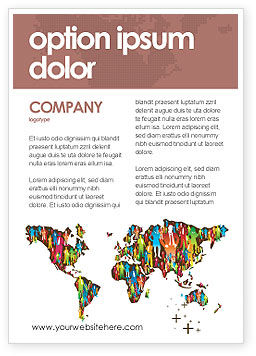 Global: Wereld Diversiteit Advertentie Template #03543