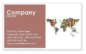 Global: Wereld Diversiteit Visitekaartje Template #03543