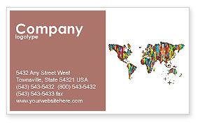 Global: World Diversity Business Card Template #03543
