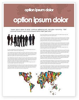 Global: 世界の多様性 - チラシテンプレート #03543