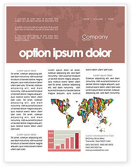 World Diversity Newsletter Template, 03543, Global — PoweredTemplate.com