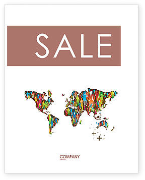 Global: World Diversity Sale Poster Template #03543