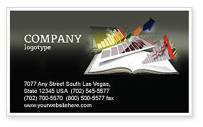Diagram In The Book Business Card Template, 03544, Consulting — PoweredTemplate.com