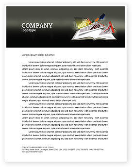 Diagram In The Book Letterhead Template, 03544, Consulting — PoweredTemplate.com