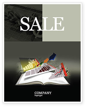 Diagram In The Book Sale Poster Template, 03544, Consulting — PoweredTemplate.com