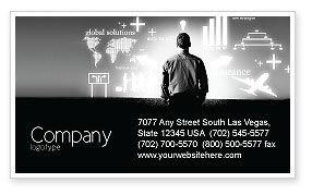 Consulting: Business Strategy Business Card Template #03545