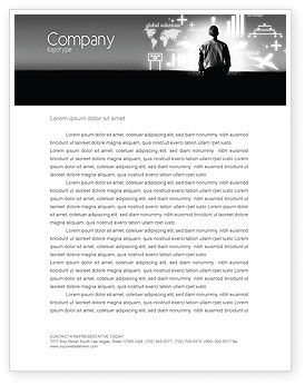 Consulting: Business Strategy Letterhead Template #03545