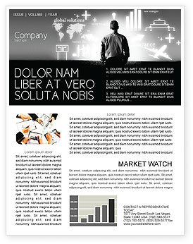 Business Strategy Newsletter Template, 03545, Consulting — PoweredTemplate.com
