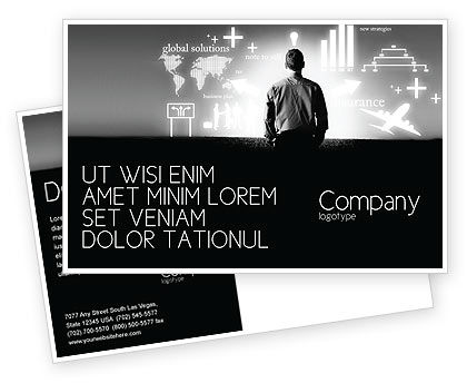 Consulting: Business Strategy Postcard Template #03545