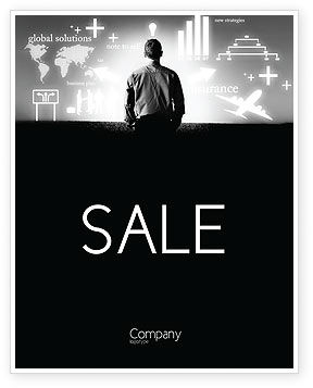 Consulting: Business Strategy Sale Poster Template #03545