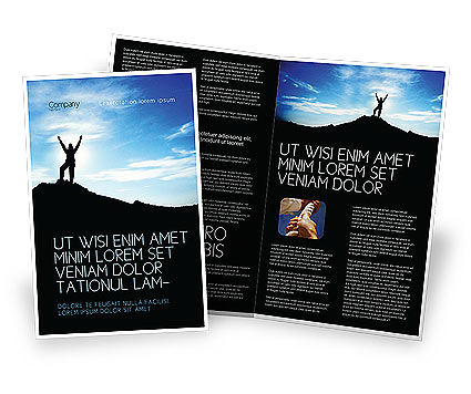 The Top Brochure Template, 03546, People — PoweredTemplate.com