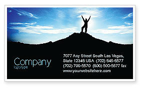 The Top Business Card Template, 03546, People — PoweredTemplate.com