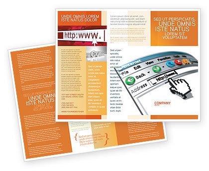 Browser Brochure Template, 03548, Technology, Science & Computers — PoweredTemplate.com