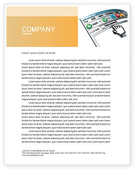 Browser Letterhead Template, 03548, Technology, Science & Computers — PoweredTemplate.com