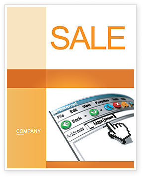 Browser Sale Poster Template, 03548, Technology, Science & Computers — PoweredTemplate.com