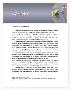Street Drawings Letterhead Template, 03549, Education & Training — PoweredTemplate.com